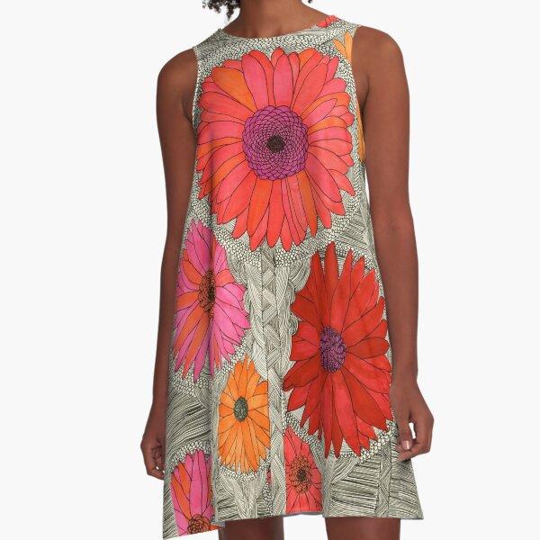 Gerbera Daisy A-Line Dress