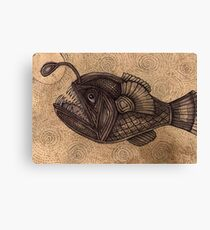 Black Devilfish (or The Angler Fish) Canvas Print