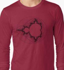Camiseta de manga larga Black - Linear Mandelbrot