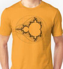 Black - Linear Mandelbrot  Unisex T-Shirt
