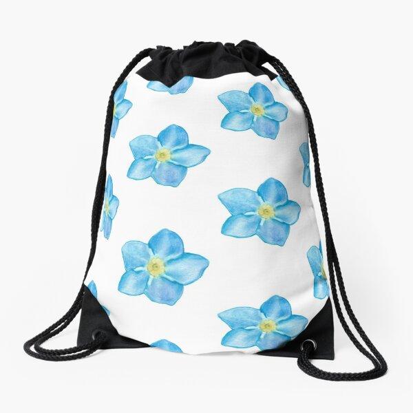 Forget me not Drawstring Bag