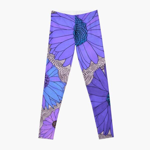 Gerbera Daisy- Purple Leggings