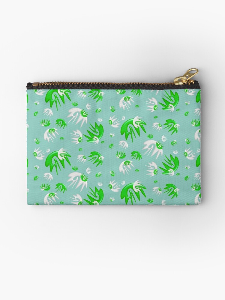 Splat Green and White Design  by CMiArt