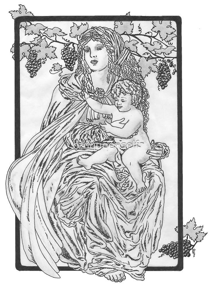 Harvest Madonna by redqueenself
