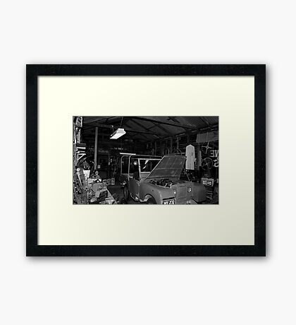 The Shed Needs A Tidy Up Framed Print