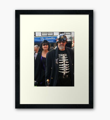 The Goth Weekend at Whitby, Oct 2011. 26 Framed Print
