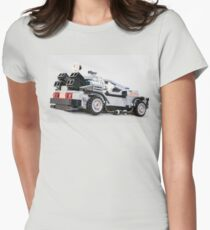 Delorean Dmc12 Womens Fitted T-Shirt