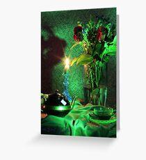 Green Tea Roses (still life) Greeting Card