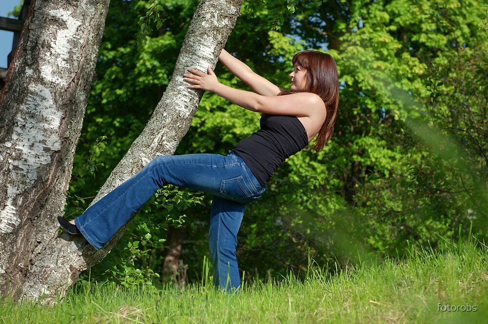 Young woman with tree. by fotorobs