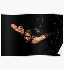 Black Widow springing from his spiderweb Poster