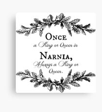 Once A King or Queen Canvas Print