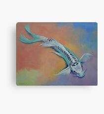 Silver and Jade Canvas Print