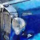 Blue MG Mark 2 by David Carton