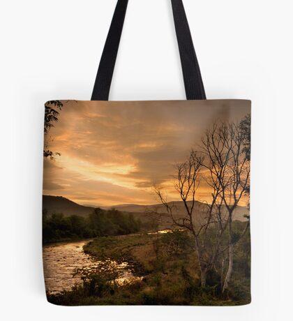 Sunset over the Umkomaas River, Kwazulu Natal, South Africa Tote Bag