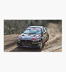 Rally Lancer Evo Drift Photographic Print