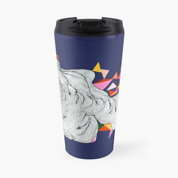 Bunting in the clouds - Blue Travel Mug