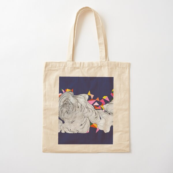 Bunting in the clouds - Blue Cotton Tote Bag
