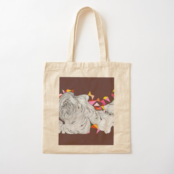 Bunting in the clouds - Maroon Cotton Tote Bag