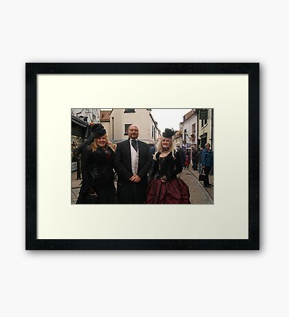 The Goth Weekend at Whitby, Oct 2011. 33 Framed Print