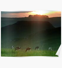Thorpe Cloud  Sunset Poster