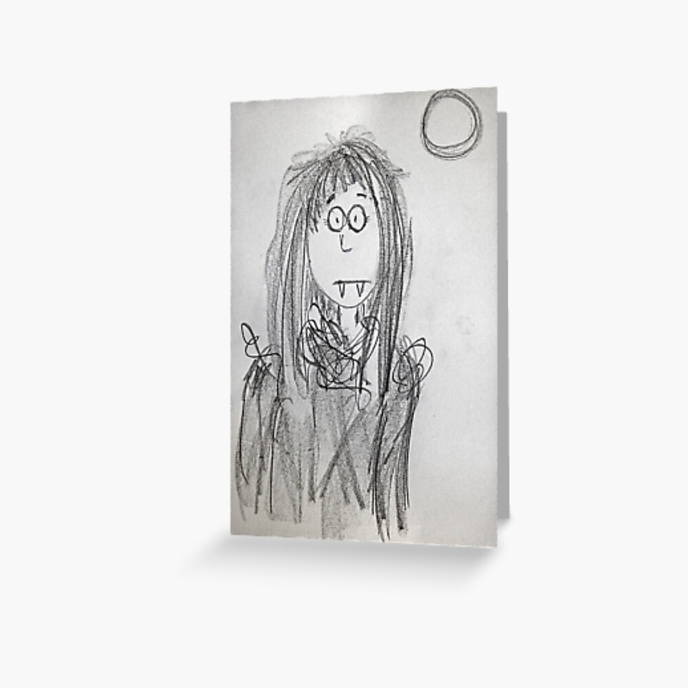 Vampire girl Greeting Card