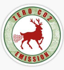 zero co2 emission Sticker