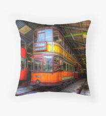 Tram 812 Glasgow Corporation Throw Pillow