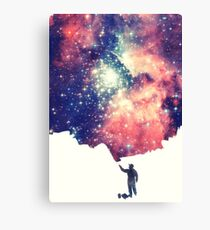 Painting the universe (Colorful Negative Space Art) Canvas Print