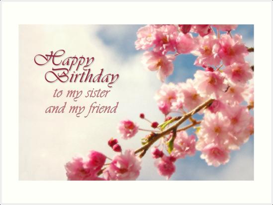 Happy Birthday Sister Cards gangcraftnet – Happy Birthday Sis Cards