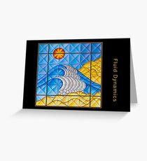 Fluid Dynamics Greeting Card