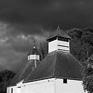 The Text Kiln (monochrome), Bushy Park, Tasmania by Odille Esmonde-Morgan