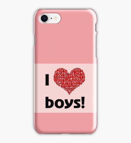 I love boys (T-Shirt & iPhone case) iPhone Case/Skin