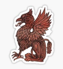 Red Gryphon Sticker