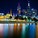 Melbourne by Night by Brad Tierney