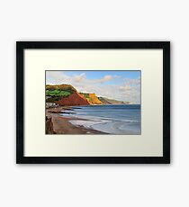 Triassic Cliffs, Sidmouth, Devon, UK Framed Print