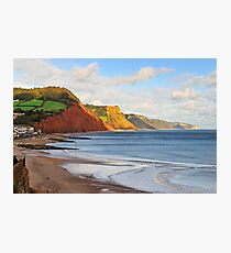 Triassic Cliffs, Sidmouth, Devon, UK Photographic Print