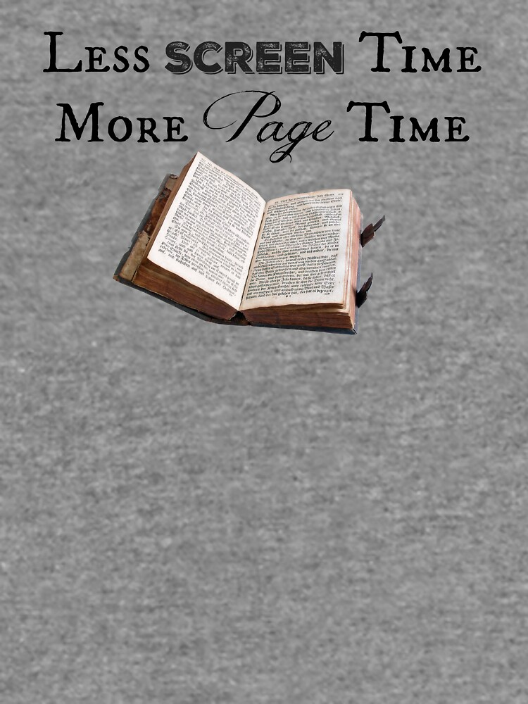 Less Screen Time, More Page Time by Missmacgirl