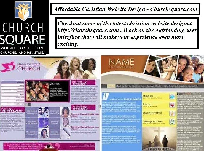 Affordable Christian Website Design - Churchsquare.com by churchsquare1