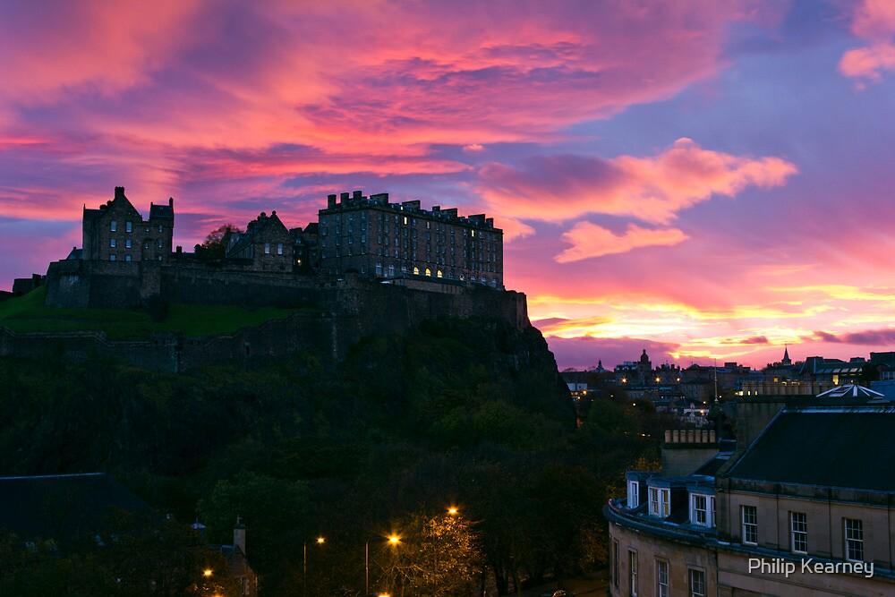 Sunrise over Edinburgh Castle (4) by Philip Kearney