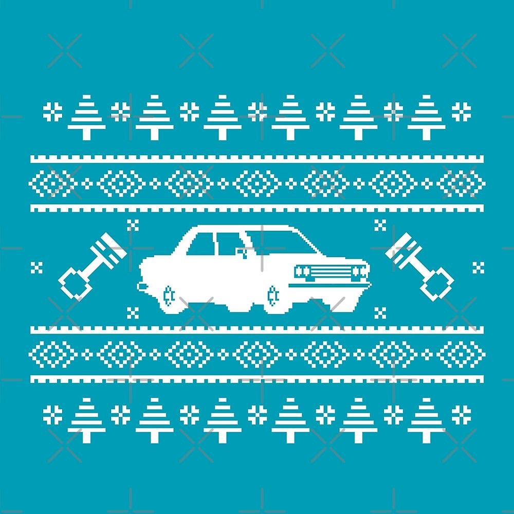 Datsun 510 Ugly Sweater by The World Of Pootermobile