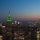 New York City, Green Empire State Building von thomasrichter