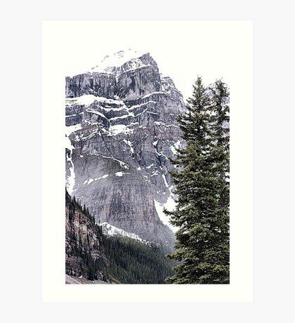 Mount Perren - One of The Ten Peaks - Moraine Lake  Alberta Art Print