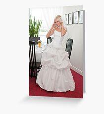 Bride in interior Greeting Card
