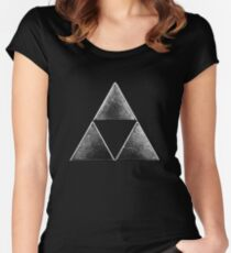 Force of three v 2 Women's Fitted Scoop T-Shirt
