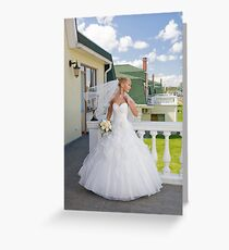 Bride On The Balcony Greeting Card