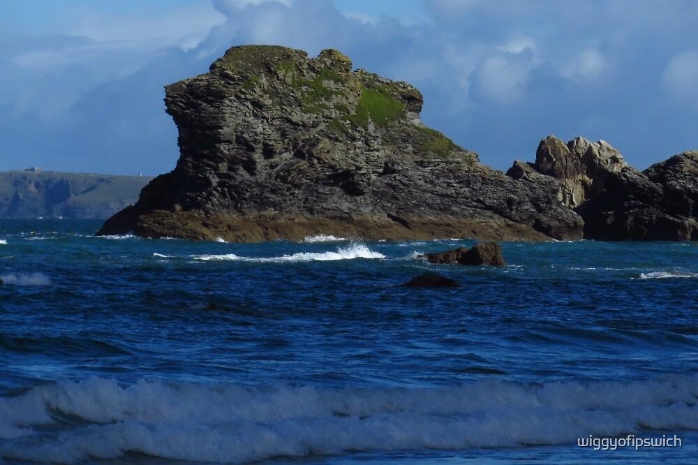 Rock, Trevaunance Cove  by wiggyofipswich