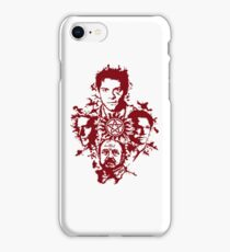 Supernatural Portraits in blood iPhone Case/Skin