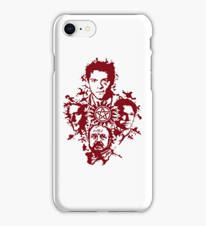 Supernatural Portraits in blood iPhone Case/Skin