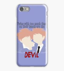 Twins with too much time on their hands iPhone Case/Skin