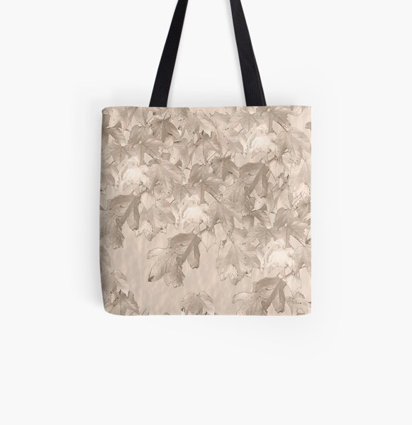 Autumn leafs Pale All Over Print Tote Bag